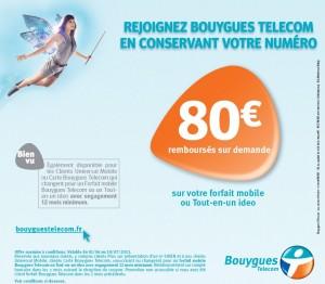 Offre de remboursement 80€ Bouygues Telecom