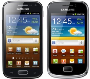 Samsung Galaxy Ace 2 et Samsung Galaxy Mini 2
