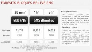 NRJ Mobile Bloqué BeLive SMS