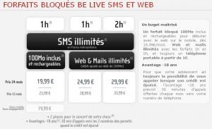NRJ Mobile Bloqué BeLive SMS et Web
