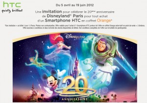 Offre HTC Orange Disneyland