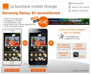 orange baisse le prix du samsung galaxy s2 reconditionn meilleur mobile. Black Bedroom Furniture Sets. Home Design Ideas