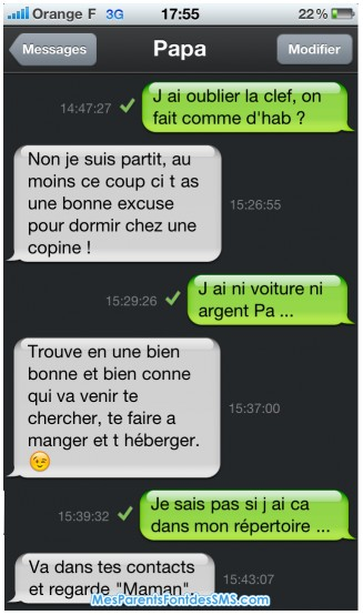 SMS11 - Le top 10 des pires SMS de parents