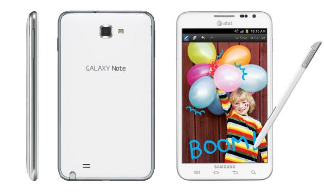 Voir la fiche technique du Samsung Galaxy Note