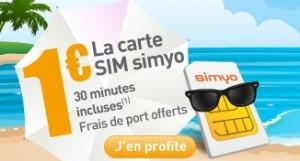 La carte Sim est � 1� chez Simyo