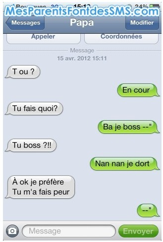 sms21 - Le top 10 des pires SMS de parents