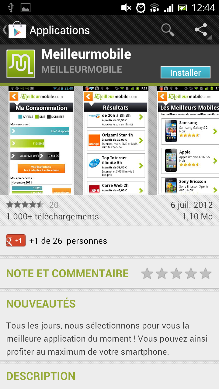 Appli android