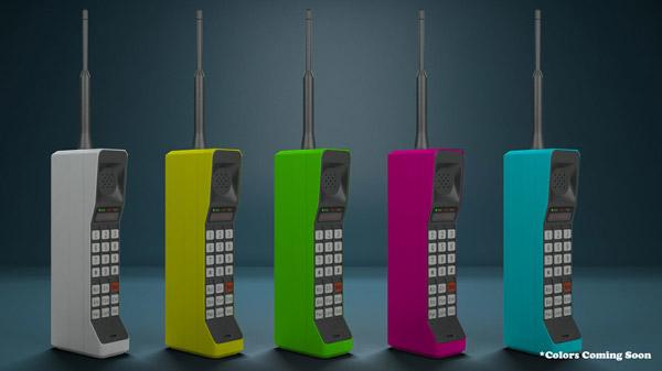 brickphone2 - Un portable des années 80 compatibles avec votre smartphone