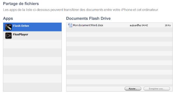 captureitunes - Comment utiliser son iPhone comme clé USB