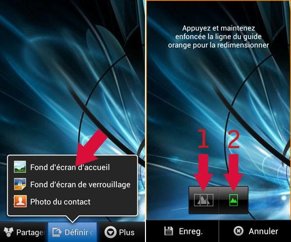 fondecran - Comment mettre une photo en fond d'écran sur un mobile Android ?