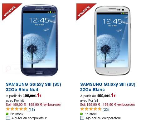Samsung Galaxy S3 avec SFR