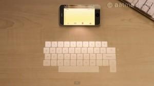 clavier holographique pour iPhone
