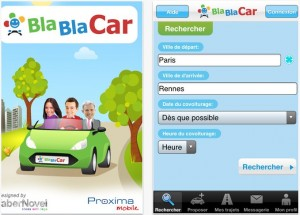 Application Blablacar