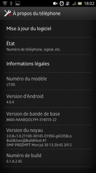 Mise à jour Android2