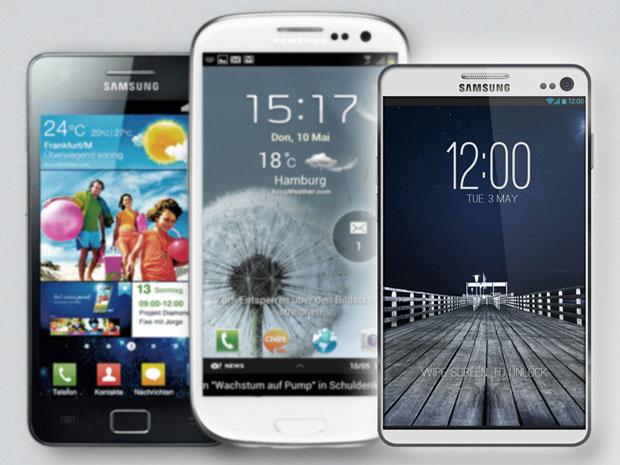 Samsung Galaxy S2, S3 et S4