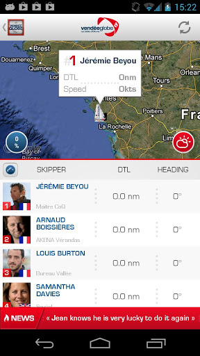Application Vendée Globe