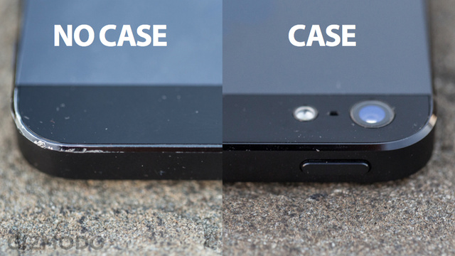 Comparatif iPhone 5 avec sans coque
