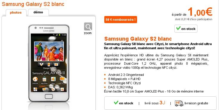 Samsung Galaxy S2 a 1 euro