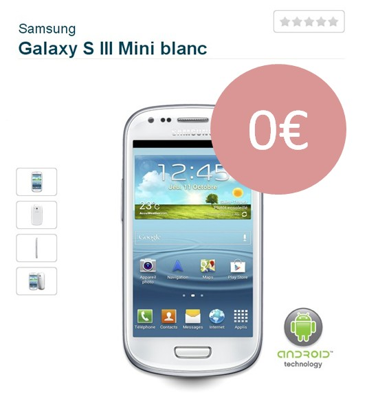 Samsung Galaxy S3 Mini offert