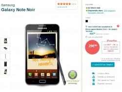 Vente flash Samsung galaxy Note