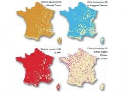 Carte de la couverture 3G en France