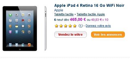 iPad 4 PriceMinister