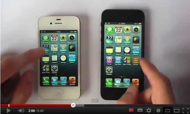 iPhone 4S iPhone 5 Test vidéo
