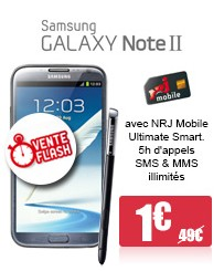 Galaxy Note 2 vente flash