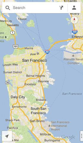 Google Maps iPhone2