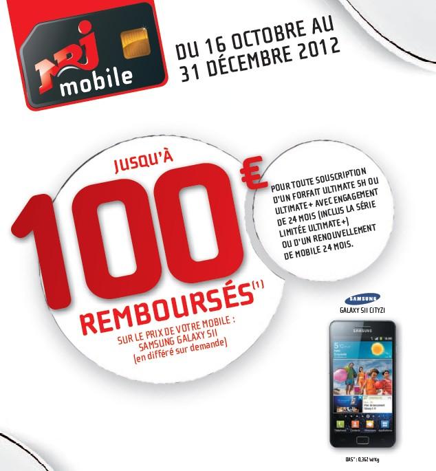 Offre de remboursement NRJ Mobile