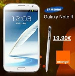 Samsung Galaxy Note 2 Orange