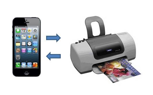 iPhone 5 imprimante