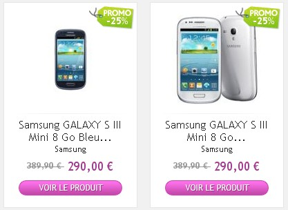 Galaxy S3 Mini PriceMinister