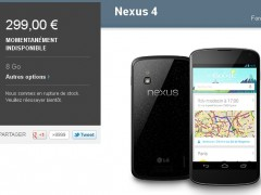 Le Nexus 4 disponible d�s demain ?