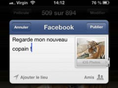 Facebook pour iPhone