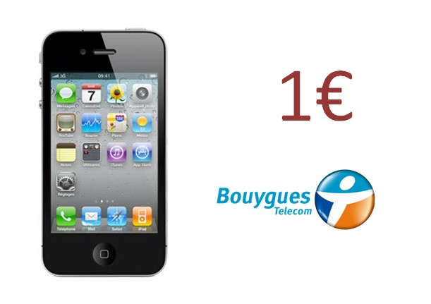 bon plan l 39 iphone 4 1 avec bouygues telecom meilleur mobile. Black Bedroom Furniture Sets. Home Design Ideas