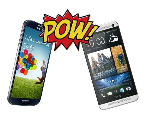 Samsung Galaxy S4 HTC One