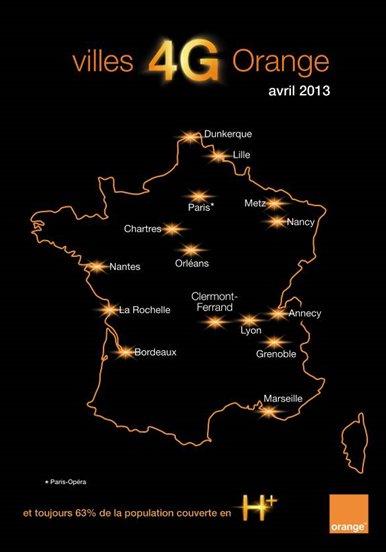 4g orange - Lancement de la 4G Orange : votre ville est-elle concernée ?