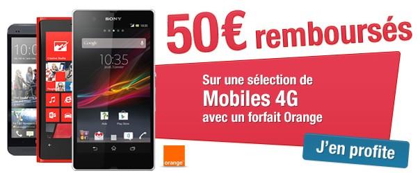 50 euros remboursés mobiles 4G