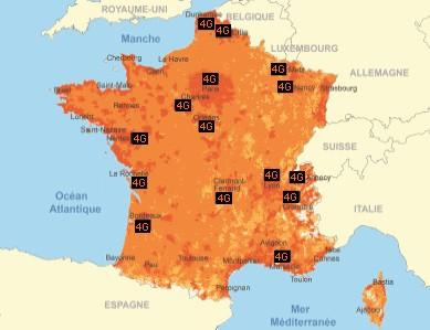 Couverture réseau Orange