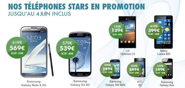 Mobiles en promo B&You