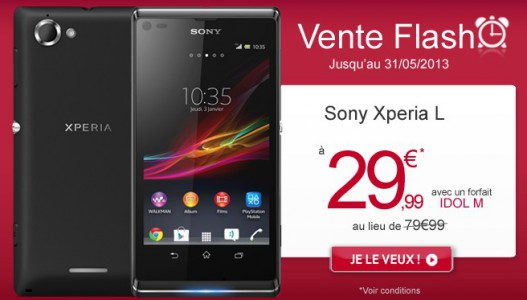 Vente Flash : Le Sony Xperia L � 29.99�