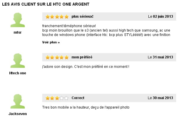 Avis HTC One