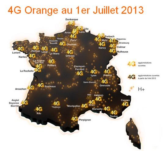 Réseau 4G Orange