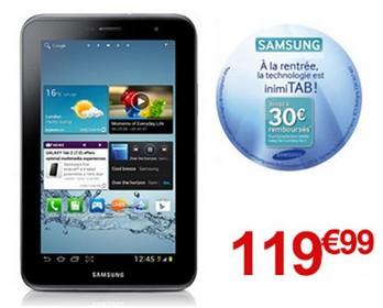 bon plan Samsung Galaxy tab 2 7.0