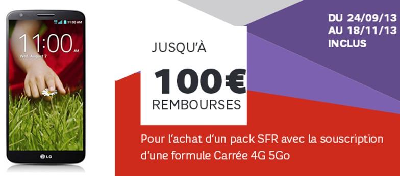 jusqu 39 100 rembours s sur le lg g2 avec sfr meilleur mobile. Black Bedroom Furniture Sets. Home Design Ideas