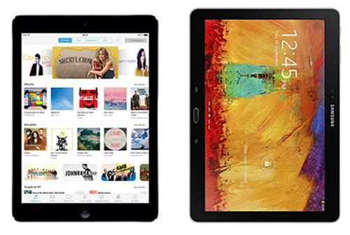 iPad Air Samsing Galaxy Note 10.1