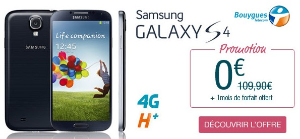 Samsung Galaxy S4 Bouygues
