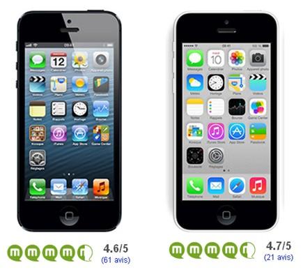 iPhone 5 iPhone 5C avis