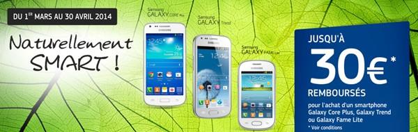 Samsung Offre remboursement
